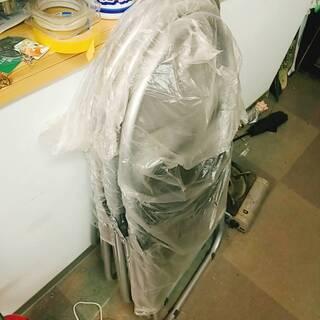 【新品・未使用】折りたたみパイプ椅子 2脚