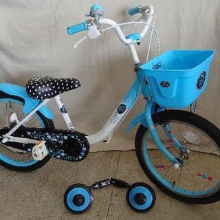 美品ですよ! 自転車 18インチ 補助輪、スタンド付き