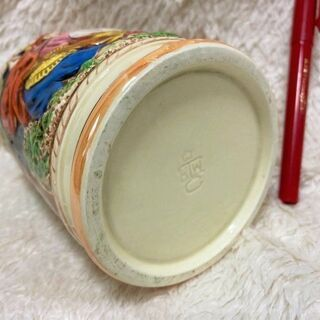 ★美品~USED・容量600ml!!高さ14㎝・ドイツ工芸品風の陶器ビアジョッキ★ - 売ります・あげます