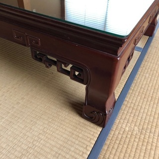 【ネット決済】カリモク アンティーク 和室 黒檀 テーブル