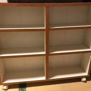 キャスター付き 本棚 押し入れ収納 収納棚