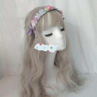 ロリータカチューシャ ヘアバンド 花柄 かわいい ヘッドドレス 髪飾り