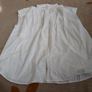 GUフレンチ袖白シャツ