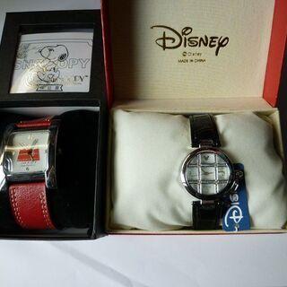スヌーピーとディズニの時計です