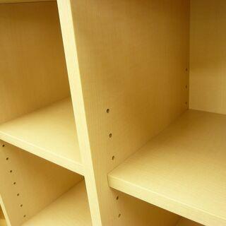 【展示品】コモディ 引出し付き 4段 収納棚 本棚 COD-1360H NA-00 ホワイト/ナチュラル系 西岡店 - 家具
