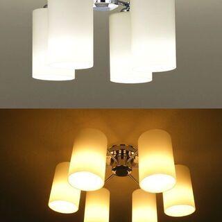 LED照明器具 4灯 天井直付型 シャンデリア