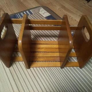 ブックスタンド 本立て 木製 スライド式