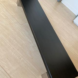 パソコンデスクに載せるミニデスク(キーボードなど下に収納)