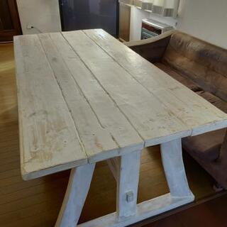 《お早めに!》アンティーク風テーブル 6人掛け ハンドメイド