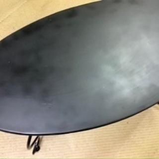 ローテーブル★ブラック★天板楕円形