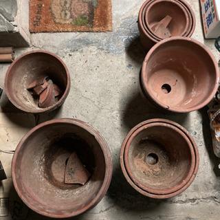 【大きいサイズのみ】素焼の植木鉢です