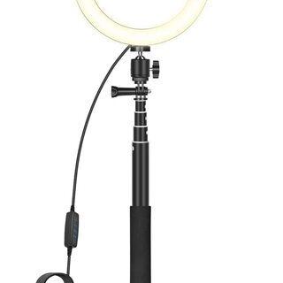 【新品・未使用】 LEDリングライト 8インチ/20cm