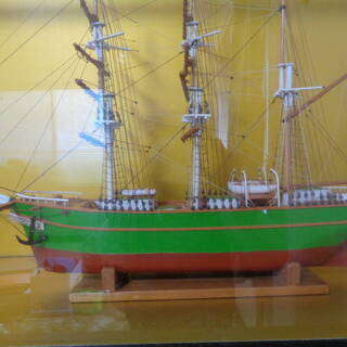 ☆ni 無料!帆船模型 大型 ガラスケース入り 置物 オブ…