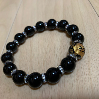 龍柄×ブラック数珠!女性サイズ