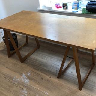 無垢!折り畳み木製テーブル(作業机)