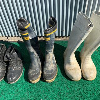 長靴、レインブーツ、安全靴、3足セット