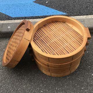 蒸籠 蓋 4段蓋付 家庭用 業務用 中華蒸し器 竹製 料理器具 ...