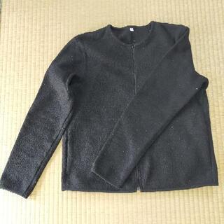 レディースジップアップセーターM 黒