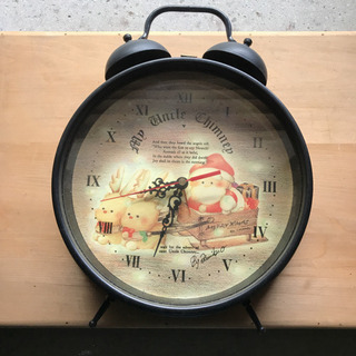 【ネット決済・配送可】大きな目覚まし時計 掛け時計❗️