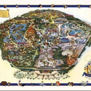 2005 ディズニーランド Disneyland USA 地図