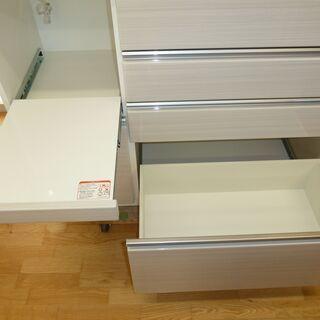 値下げしましたk32☆ニトリ☆高級食器棚・レンジボード☆ブルモーション機能+モイス板付☆2020年製☆展示品☆近隣配達、設置可能 - 家具