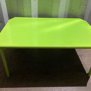 1030-12 折りたたみテーブル グリーン カラフル オシャレ