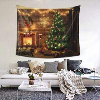 【新品・未使用】クリスマス タペストリー(152*130cm)