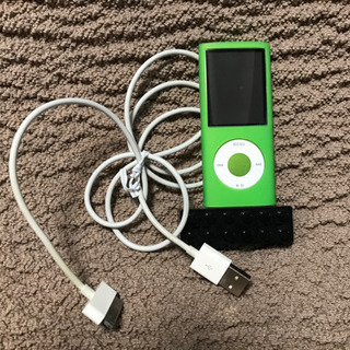 取引中、iPod グリーン スピーカー付き