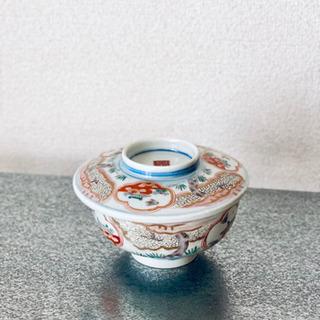 【ネット決済・配送可】美しいお品物 陶器 蓋付碗 伊万里柄 金彩...