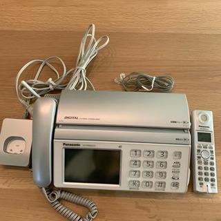 パナソニック ファックス 電話 おたっくす 子機付