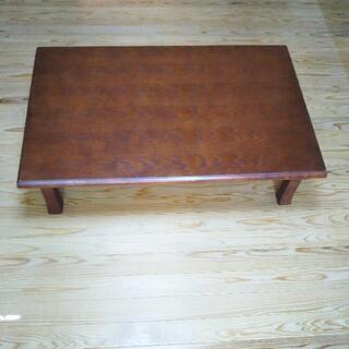 ★古品★ 折脚角座卓 天然木+天然木化粧合板