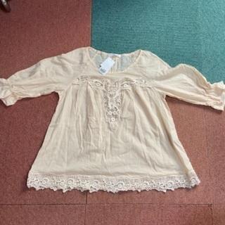 ROWRYS FARMの七分袖チュニック(タグ付き)Lサイズ