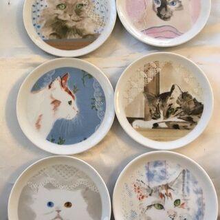 猫絵皿6枚セット譲ります。