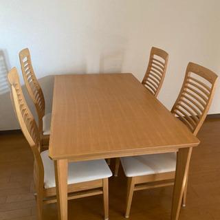 ダイニングテーブル + 4人用椅子