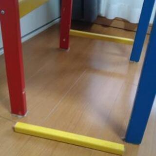 木製カラフル机 - 家具