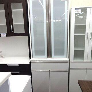 札幌 引き取り ニトリ セパレート 食器棚 白 大型 キッチン収...
