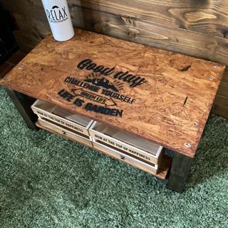 お洒落 OCB  木材 キャンプ カリフォルニア  テーブル 新品