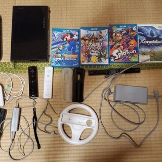 WiiU 32GB とソフトセット(スプラ、マリオカート8、スマ...