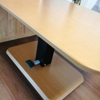 昇降テーブル ダイニングテーブルの画像