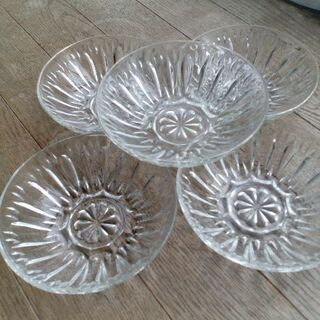 ガラスの食器 昭和レトロ 5個セット