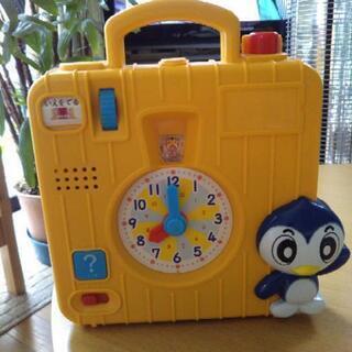 子供チャレンジの知育玩具(時計の勉強)