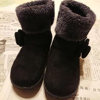 19cm 女児 ブーツ 黒