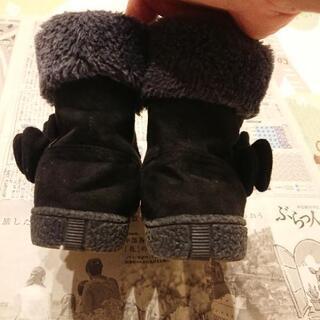 19cm 女児 ブーツ 黒 - 子供用品