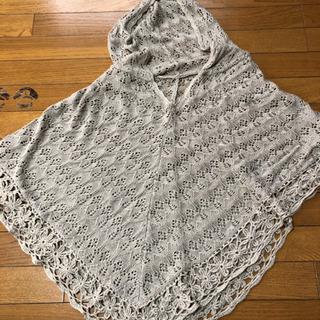 ケープ⭐️マント 薄茶・カギ編み