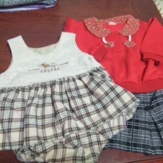90㌢子供服、女の子用3枚セット、値下げしました。