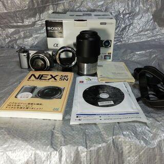【値下げしました】Sony ミラーレス一眼カメラ Nex5R ダ...