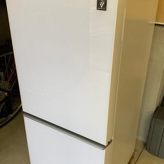 シャープ 2ドア冷蔵庫 白137L 半年間使用、新品同様、…