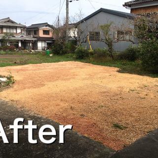 ウッドチップを利用した雑草防止方法です。