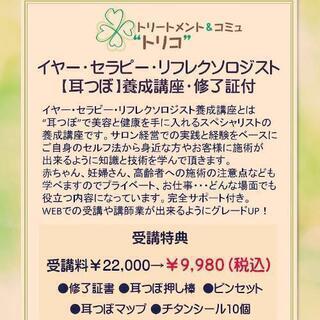 zoomで修了証付き 耳つぼ養成講座 講師にもなれる❗今なら9980円(税込) - 仙台市