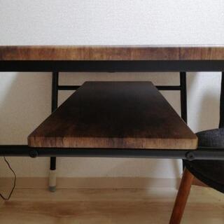 ダイニングテーブルと椅子2脚 差し上げます - 荒川区